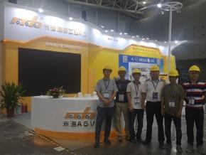 米海AGV机器人参加展会