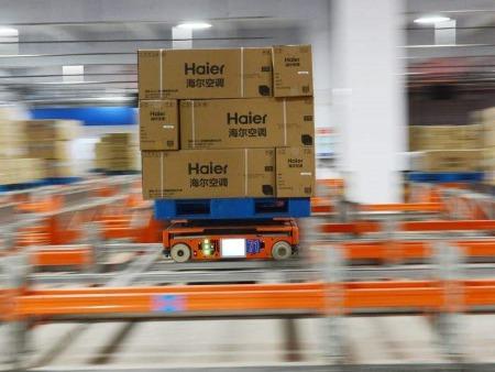 轻载SLAM导航AGV应用在家电行业