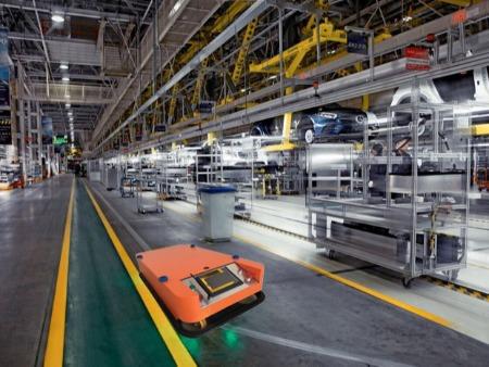 agv无人小车应用在柔性生产线