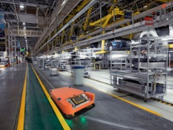 AGV搬运机器人可以建设柔性生产线