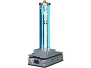 紫外线杀菌机器人可应用在工厂饭堂