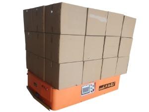 仓储机器人背负纸箱