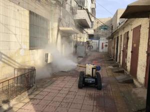 喷雾消毒机器人应用在小巷