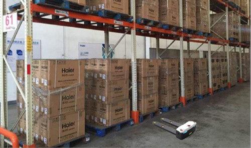 AGV搬运机器人在家电行业的应用